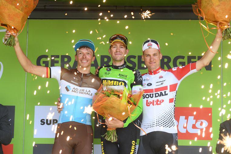 Naesen, De Plus en Wellens op het podium van de BinckBank Tour.