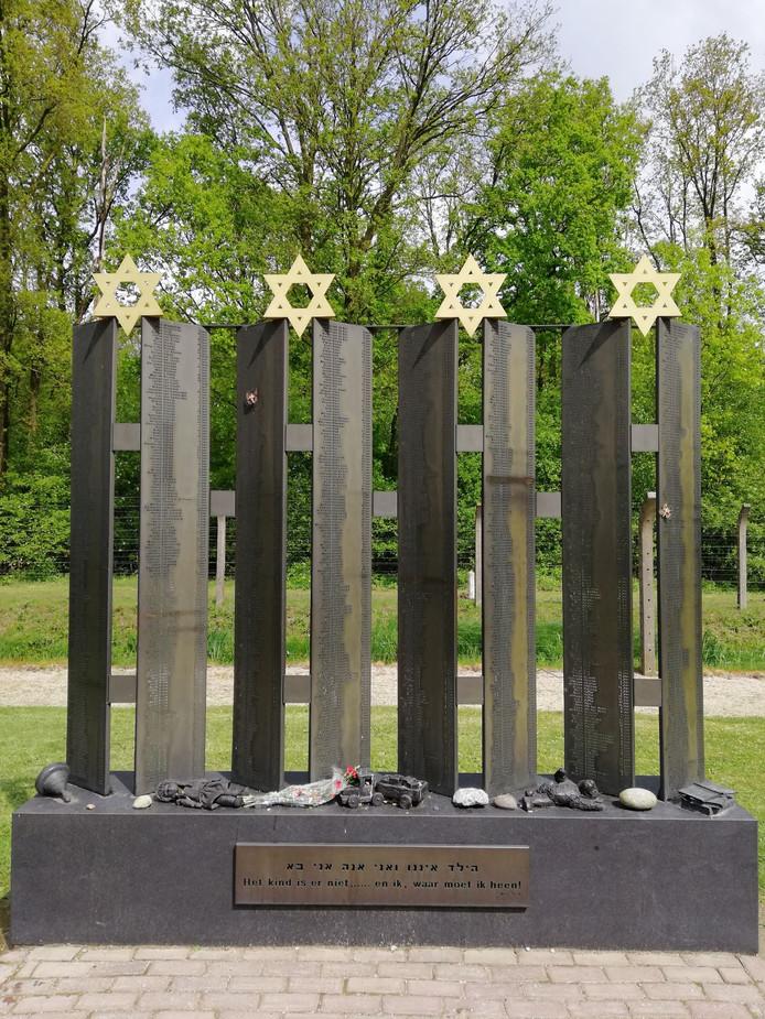 Monument Kamp Vught: 1800 Joodse kinderen werden in juni 1943 weggevoerd en omgebracht.