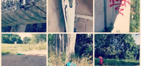 Vernielingen en grote bende bij Amaliabrug: 'Jeugd is hard op weg favoriete hangplek te verpesten'