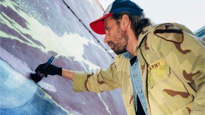 Matthias Schoenaerts slaat weer toe en maakt immens graffitikunstwerk in Antwerpen