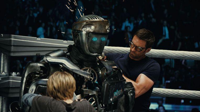 Hugh Jackman in Real Steel. Beeld