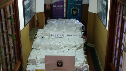Recorddrugsvangst van bijna miljard euro in haven Uruguay: 6 ton cocaïne in beslag genomen