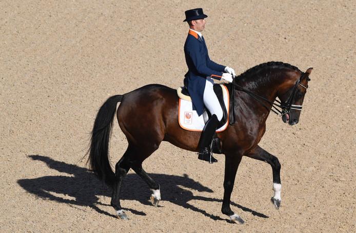 Hans-Peter Minderhoud tijdens de Olympische Spelen in Brazilië.