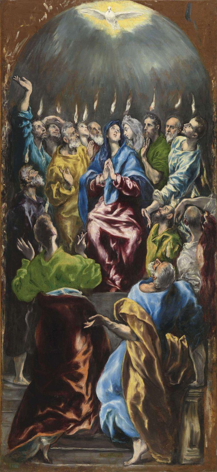 El Greco, Pentecostés (Pinksteren), ca. 1600. Beeld © Photographic Archive. Museo Nacional del Prado. Madrid