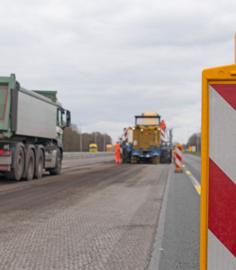 Enorme verkeershinder door spoedreparatie op A28 tussen Zwolle-Noord en Staphorst