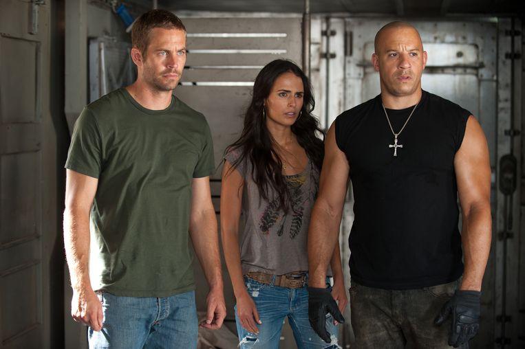 Brian O'Connor (Paul Walker), Mia Toretto (Jordana Brewster), Dom Toretto (Vin Diesel)