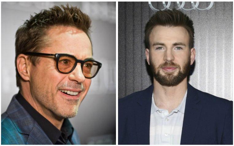 Robert Downey Jr. en Chris Evans speelden jarenlang samen in de 'Avengers'-films.