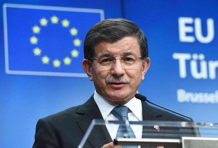 De Turkse premier Davutoglu. Beeld anp