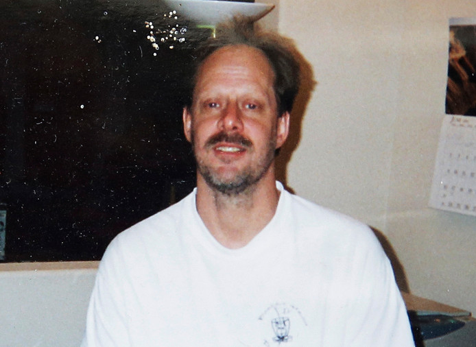Stephen Paddock, de man die 58 mensen dood schoot in Las Vegas.