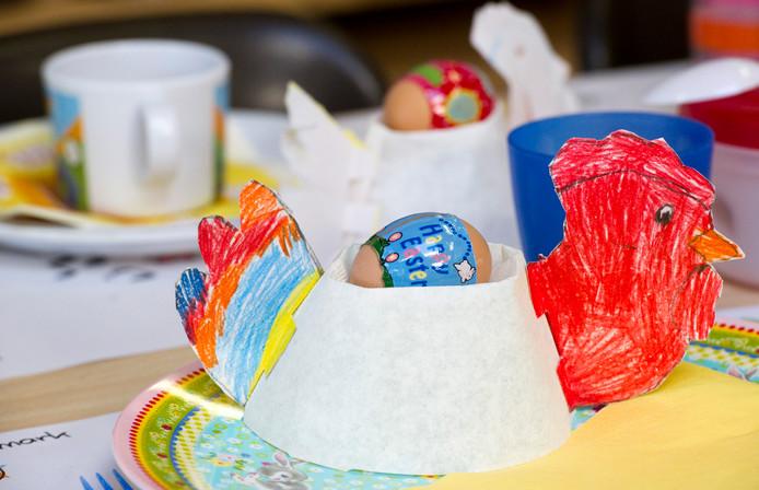 Een werkje van een leerling voor het jaarlijkse paasontbijt.