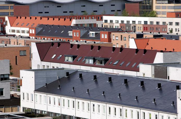Heemburg in de wijk Oosterheem gezien vanuit een flat in de Poortugaalstraat.