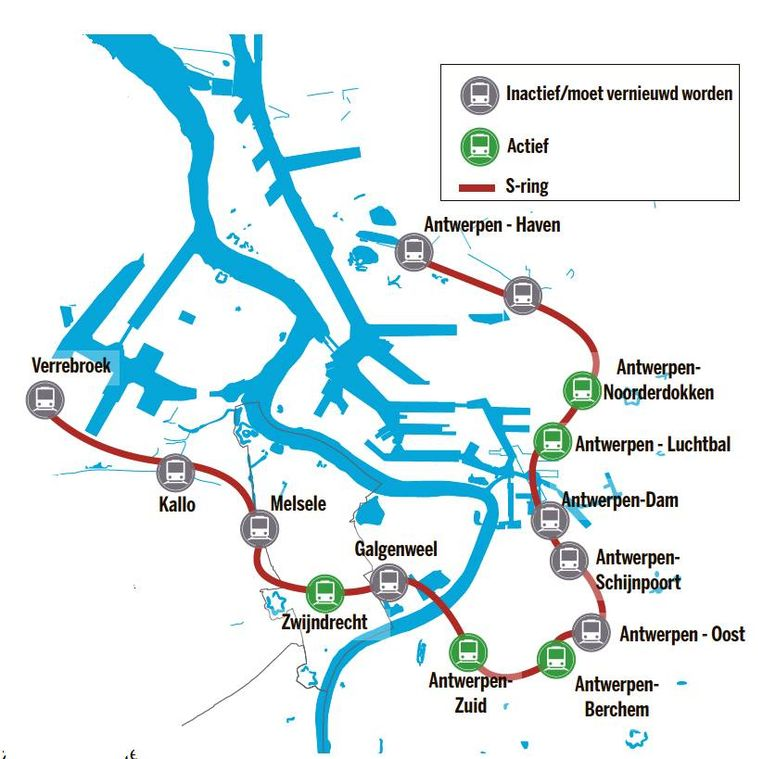 Open Vld deed in april het voorstel om de bestaande sporen in de Antwerpse haven open te zetten voor reizigersvervoer. Volgens de partij zouden een aantal oude stations zoals Linkeroever, Antwerpen-Oost, Dam enHavenmoeten heropenen.