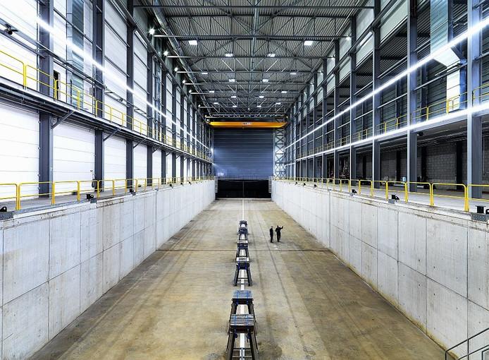 Het nieuwe droogdok voor schepen tot wel 83 meter lang.
