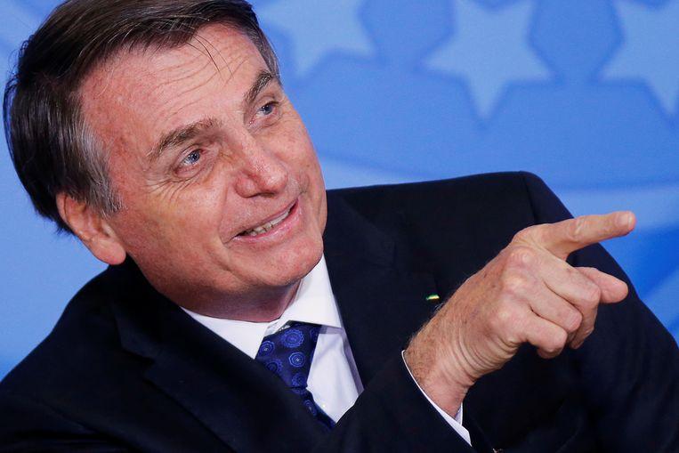 De Braziliaanse president Jair Bolsonaro.
