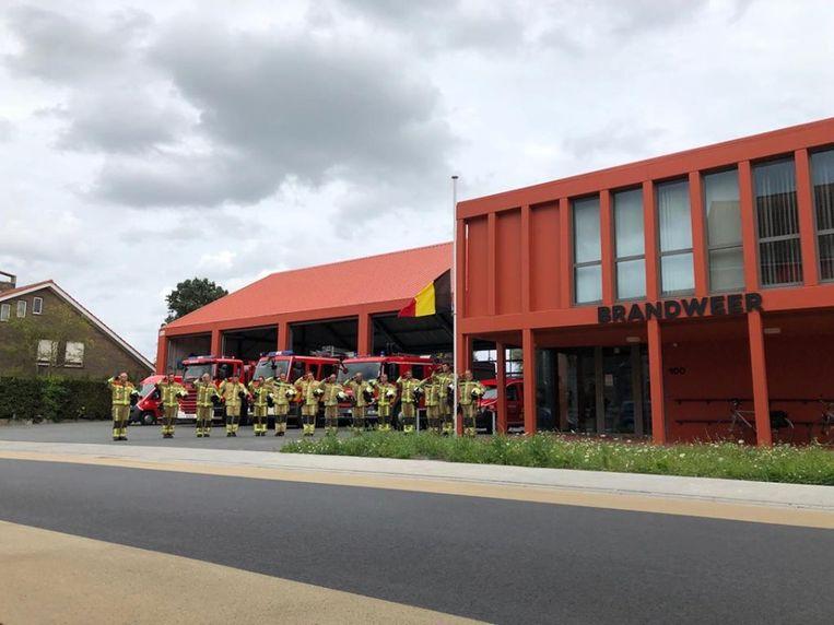 De brandweer in Staden hield zondag al spontaan een minuut stilte.