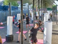 Als er geen festivals zijn, overkapt Epic Shelters uit Veghel wel andere activiteiten: fitness in Uden bijvoorbeeld