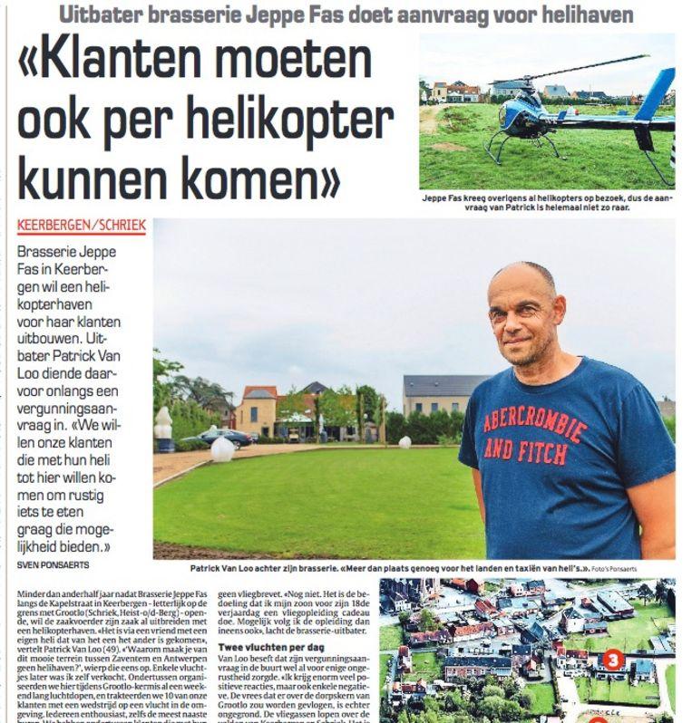 Eigenaar Patrick Van Loo had in juni nog goede hoop en had allerlei plannen om Jeppe Bas uit te breiden.