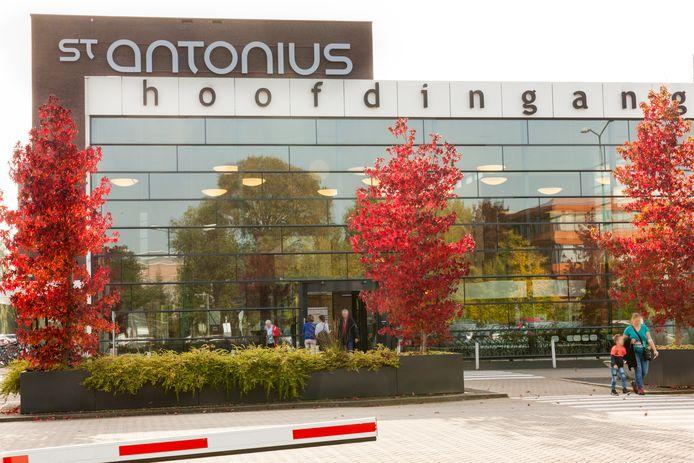 De entree van het St. Antonius ziekenhuis in Woerden.