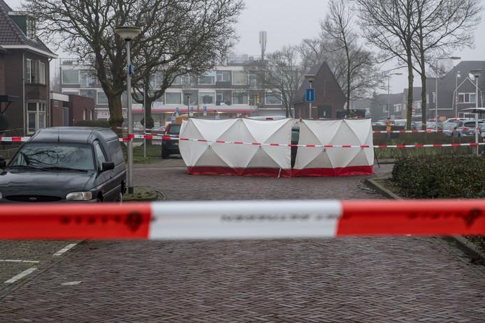 De plaats delict aan de Brinkstraat in Enschede