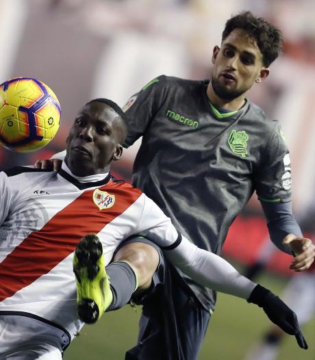 Rayo Vallecano geeft zege nog weg tegen Real Sociedad