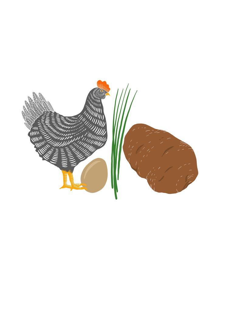 Omelette aux pommes de terre. Beeld Rosa De Weerd