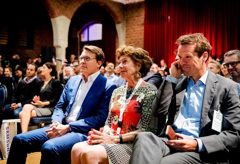 Prins Constantijn en Neelie Kroes (StartupDelta) bij Startup Fest Europe in de Beurs van Berlage. Beeld anp