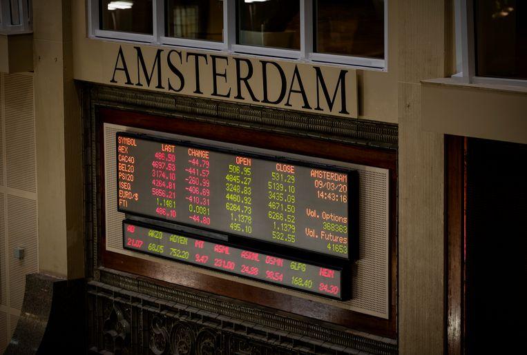Aandelenbeurs Amsterdam. Beeld ANP