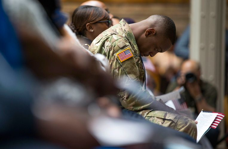 Archieffoto met een Amerikaanse militair.  Beeld AP