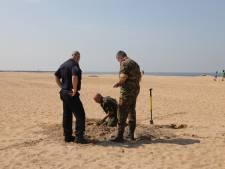 Mortiergranaat gevonden op het Noorderstrand
