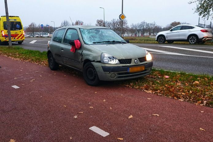 De auto raakte bij het ongeval total loss.