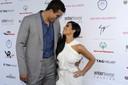 Kris Humphries met Kim Kardashian in betere tijden (2011).