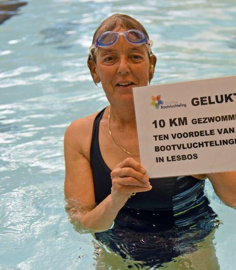 Mieke zet zich in voor bootvluchtelingen en zwemt de afstand tussen Turkije en Lesbos