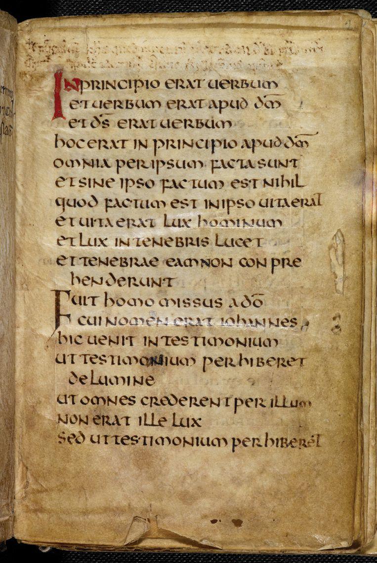 Pagina uit het Evangelie van Cuthbert. Beeld AP