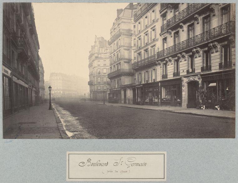 Charles Marville's opname van de Parijse Boulevard Saint Germain in 1877. Beeld State Library Victoria