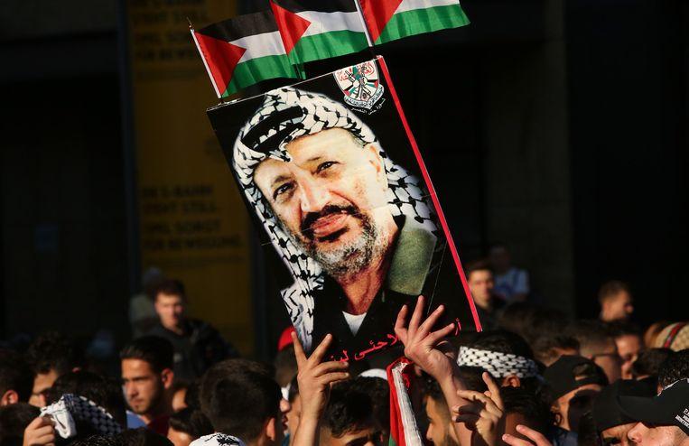Een afbeelding van Arafat. Beeld getty