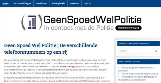 Geen Nood Wel Politie.Politie Midden Nederland Waarschuwt Voor Betaalnummer