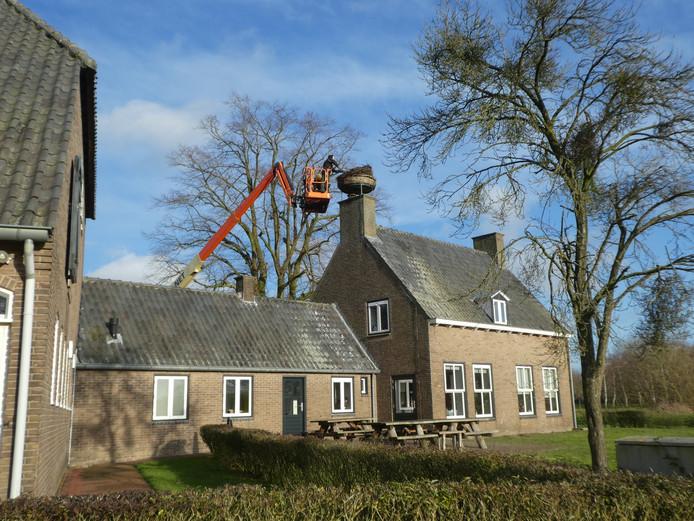 Achter jaar oude ooievaarsnest afgebroken in Breda