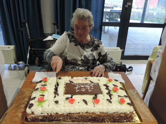 Rosalie is 101 geworden en dat mocht gevierd.