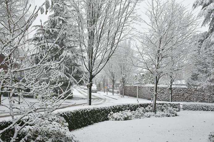 Sneeuw in Oldenzaal