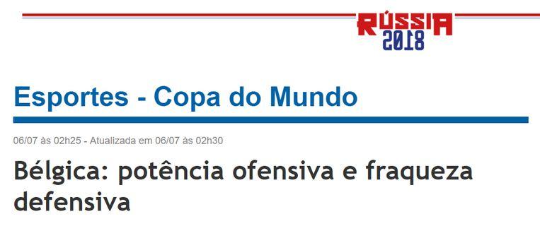 De vooruitblik van Jornal Do Brasil.