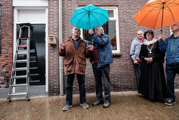 Jan Cremer (links) in Groenlo.