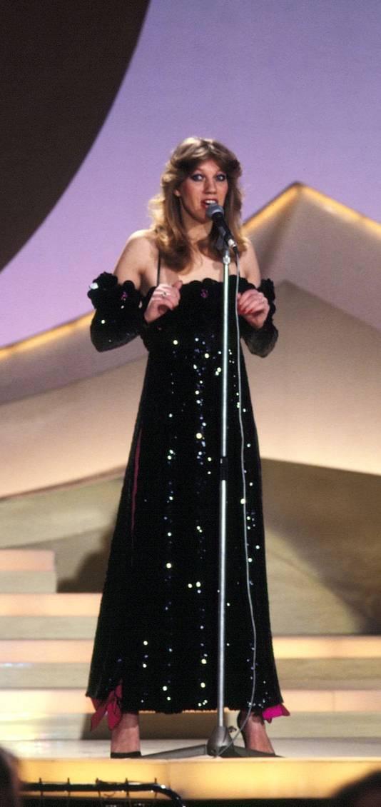 Sjoukje in 1980 tijdens het Eurovisie Songfestival. Ze werd toen vijfde met het lied 'Amsterdam'.