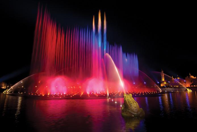 Aquanura: 200 fontaines et 900 lumières