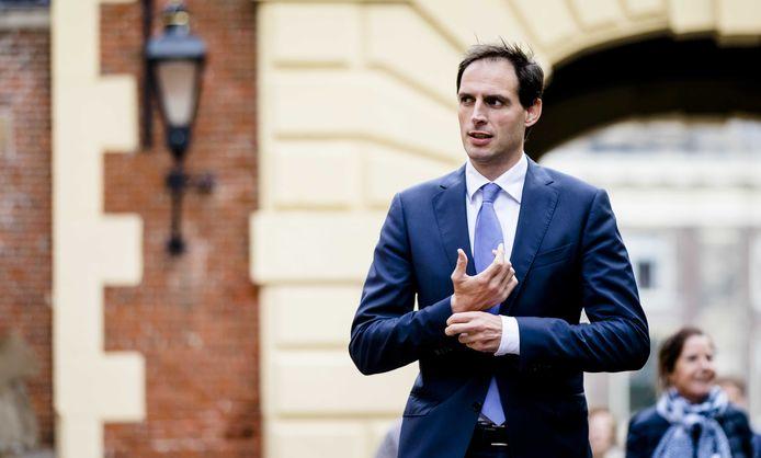 Minister Wopke Hoekstra van Financiën (CDA) op het Binnenhof.