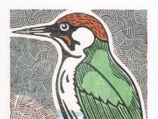 Lino's en artstamps van vogels in nieuwe Leskimo