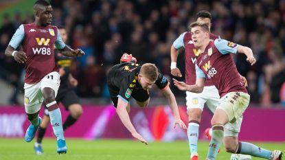 Akelige val in slotseconde League Cupfinale levert De Bruyne lichte rug- en schouderblessure op