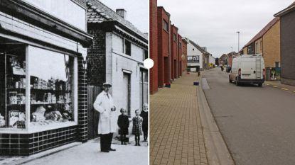 Vroeger en nu: kruidenier Van Mol in de Ternatsestraat in Essene