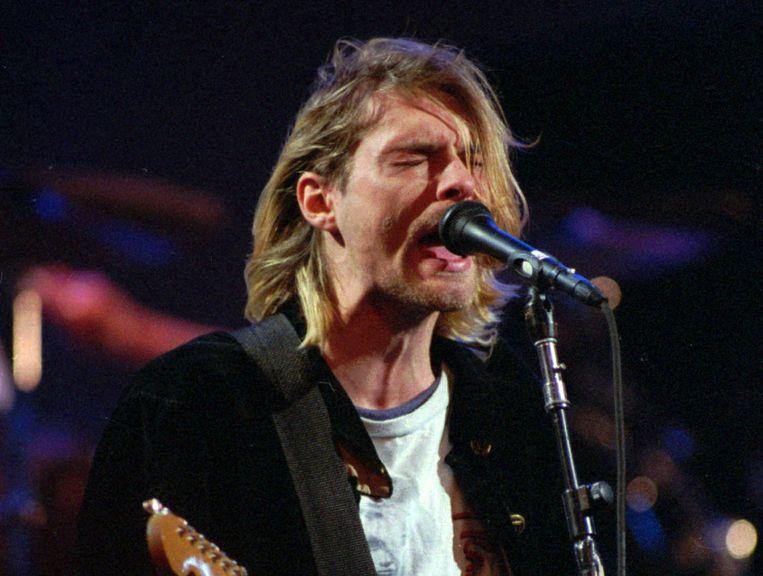 Kurt Cobain in 1993. Beeld ap