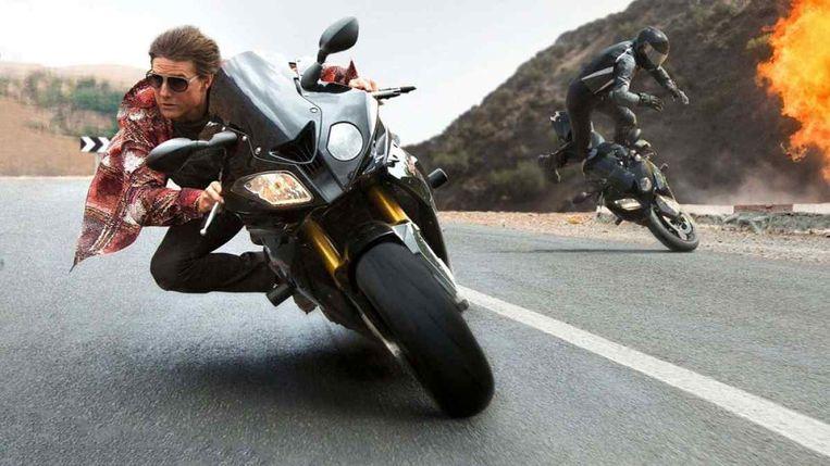 null Beeld Tom Cruise stunt.