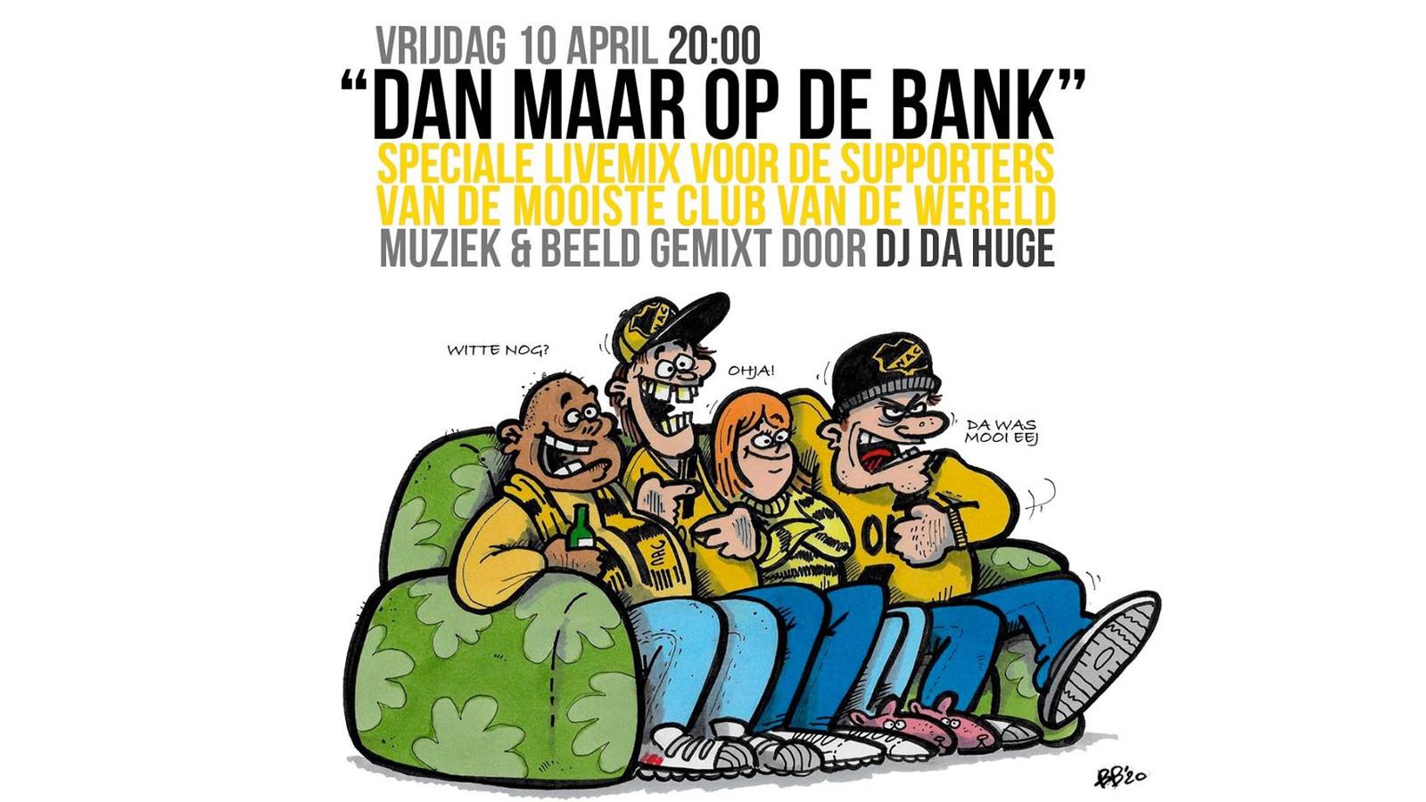 Artwork bij Dan maar op de Bank door Bram de Bont